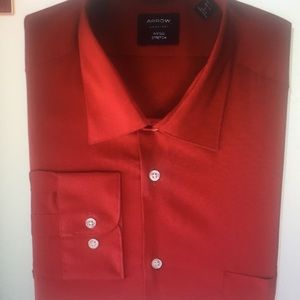 RED Fitted Stretch Shirt